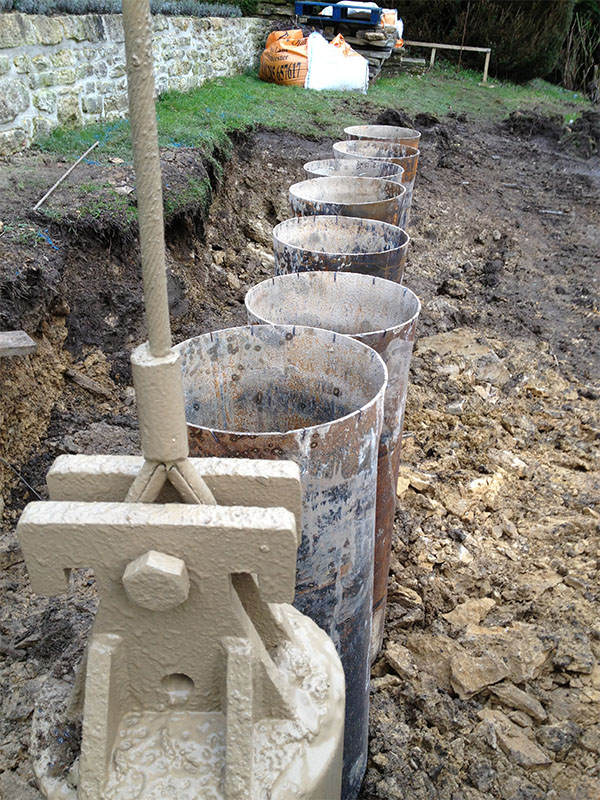 Piling services in herefordshire charlton piling for Wood piling foundation